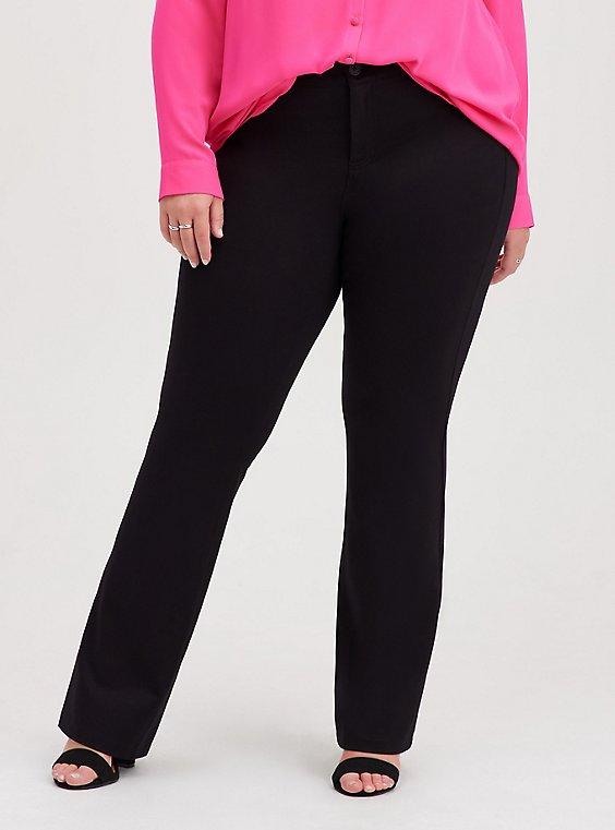 Bombshell Slim Boot Pant - Premium Ponte Black, DEEP BLACK, hi-res