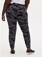 Studio Ponte Slim Fix Grey Camo Pull-On Pixie Pant, CAMO, alternate