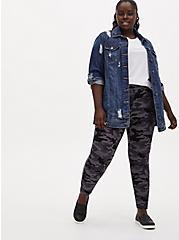 Studio Ponte Slim Fix Grey Camo Pull-On Pixie Pant, CAMO, alternate