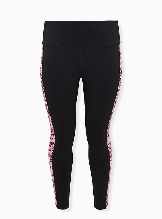 Breast Cancer Awareness - Wonder Woman Black & Pink Active Legging with Pockets, , hi-res