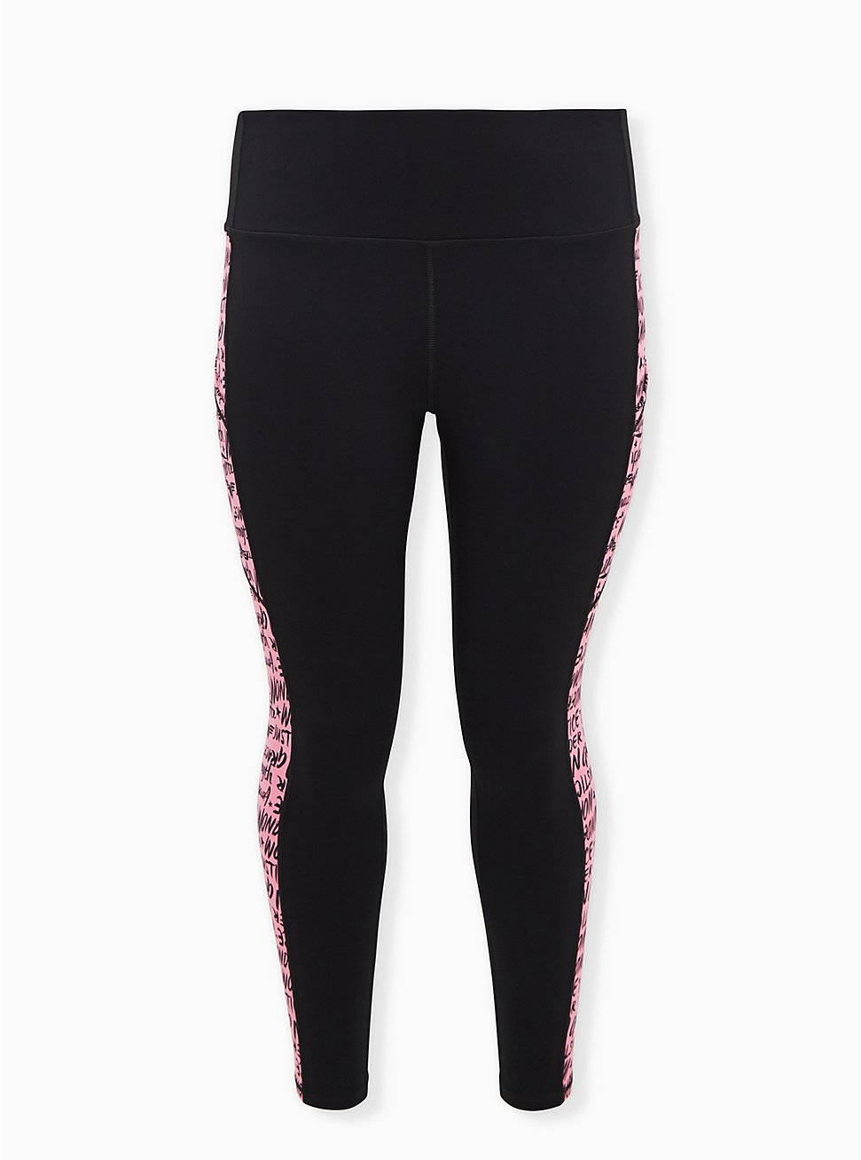 Breast Cancer Awareness - Wonder Woman Black & Pink Active Legging with Pockets, DEEP BLACK, hi-res