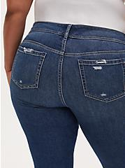 Mid Rise Flare Jean - Vintage Stretch Medium Wash with Frayed hem, BACK COUNTRY, alternate