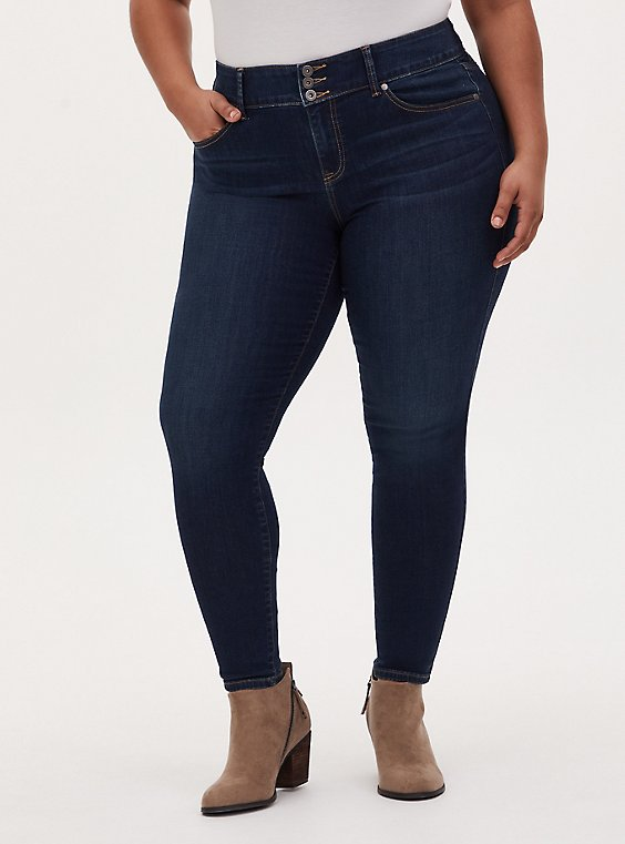 Jegging - Super Soft Dark Wash , BASIN, hi-res