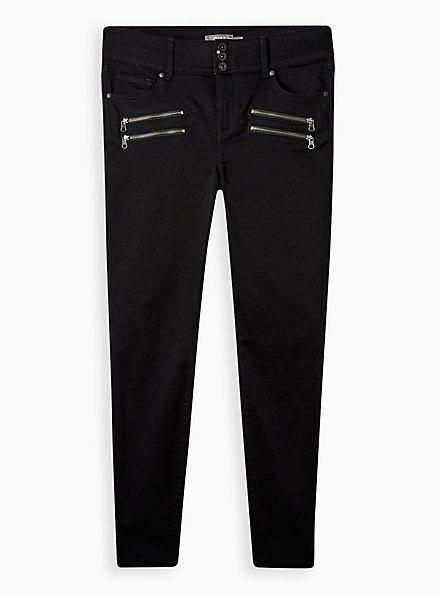 Multi Zip Jegging - Super Soft Black, BLACK, hi-res