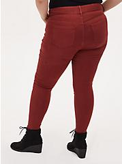 Multi Zip Jegging - Super Soft Brick Red, MADDER BROWN, alternate
