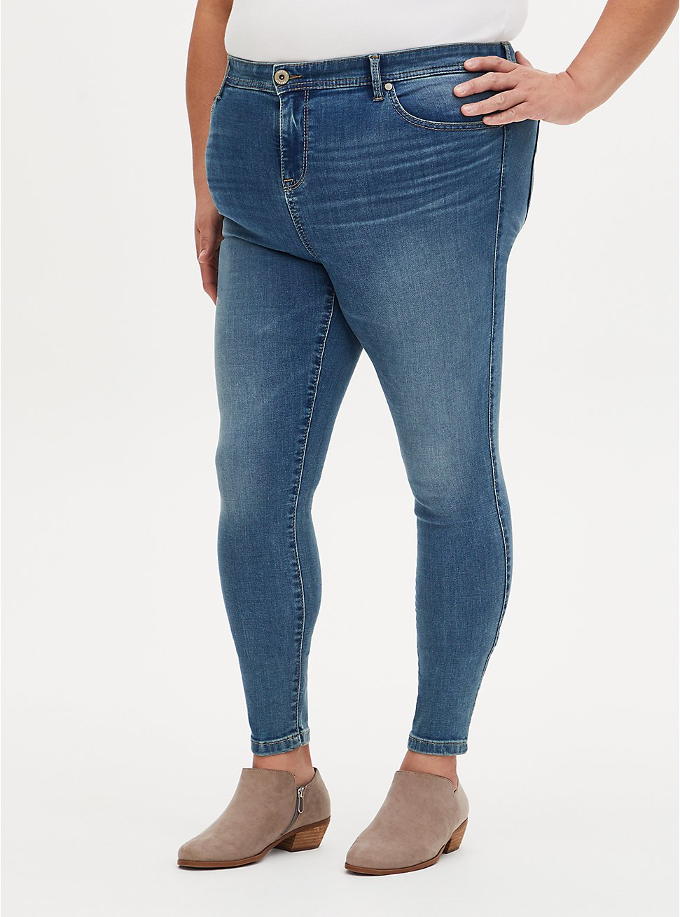 MidFit Super Skinny Jean - Super Soft Eco Medium Wash, SEAFLOOR, hi-res