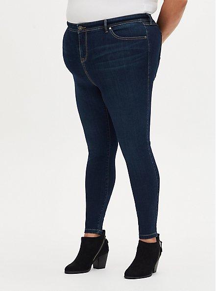 Plus Size MidFit Super Skinny Jean - Super Soft Dark Wash, BASIN, hi-res
