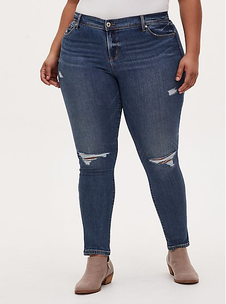 Plus Size Luxe Skinny Jean - Super Soft Medium Wash, MESA, hi-res