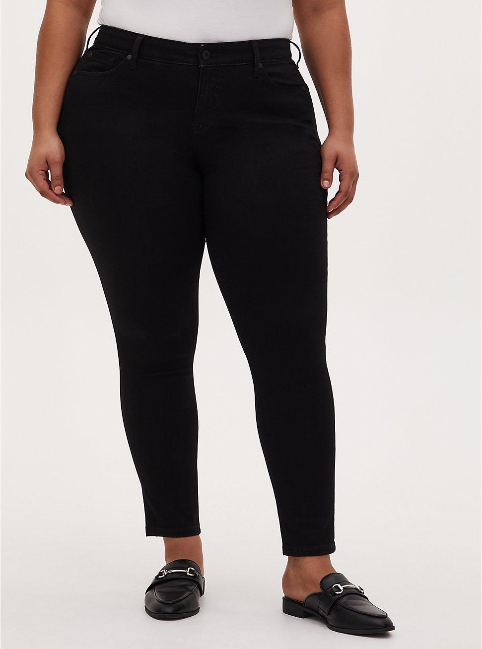 Mid Rise Skinny Jean – Super Soft Black, BLACK, hi-res