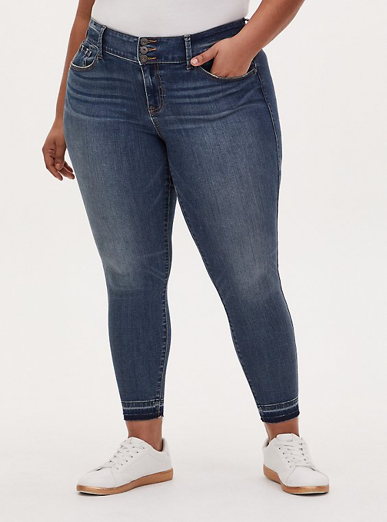 Jegging - Super Soft Medium Wash with Release Hem, , hi-res