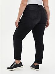 Boyfriend Straight Jean - Vintage Stretch Black Wash, BLACKOUT, alternate