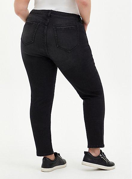 Boyfriend Straight Jean - Vintage Stretch Black Wash, BLACKOUT, alternate