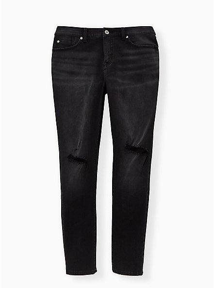 Boyfriend Straight Jean - Vintage Stretch Black Wash, BLACKOUT, hi-res
