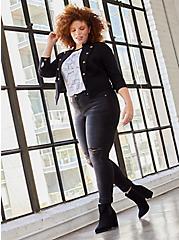 Boyfriend Straight Jean - Vintage Stretch Washed Black, BLACKOUT, hi-res