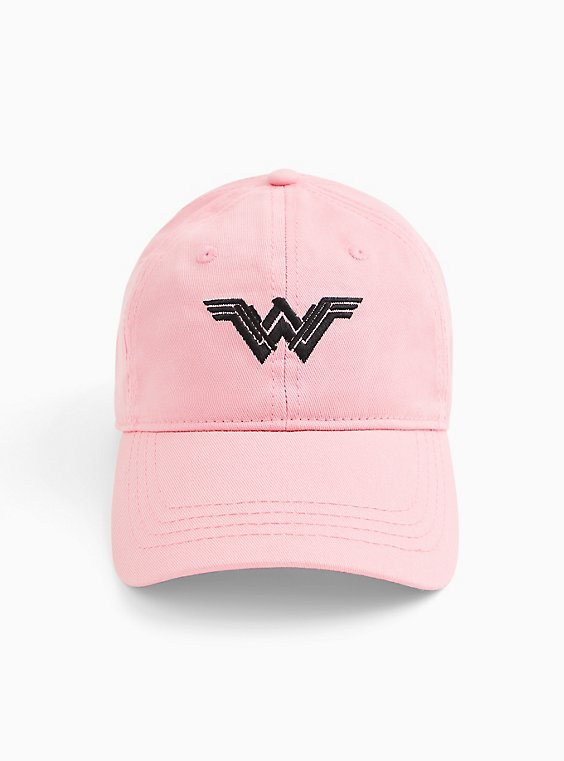 Breast Cancer Awareness - Wonder Woman Fierce Light Pink Cotton Baseball Cap, , hi-res