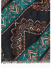 Medallion Print Extra Long Luxury Scarf, , alternate