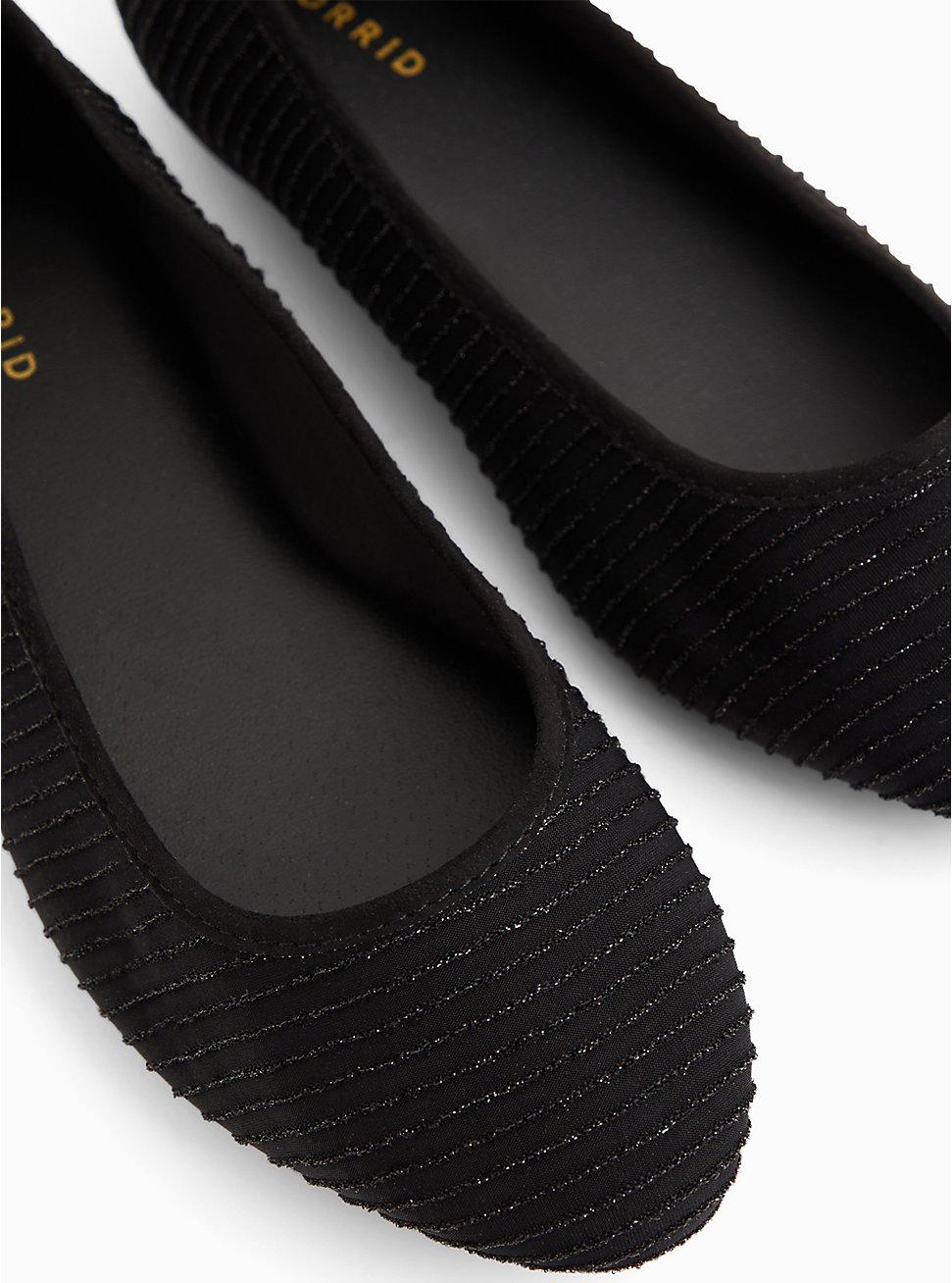 Black Shimmer Flat (WW), BLACK, hi-res