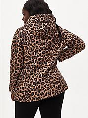 Leopard Nylon Lightweight Puffer Jacket, LEOPARD, alternate