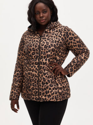 Torrid Leopard Print Lightweight Puffer Coat