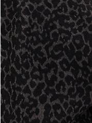 Grey Leopard Woolen Coat , LEOPARD, alternate