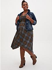 Outlander Tartan Challis Handkerchief Shirt Dress, PLAID, hi-res