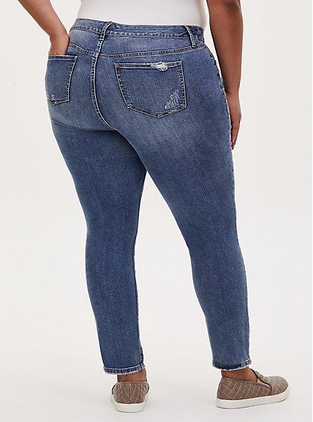 Mid Rise Skinny Jean - Vintage Stretch Medium Wash, TRUTH OR DARE, alternate