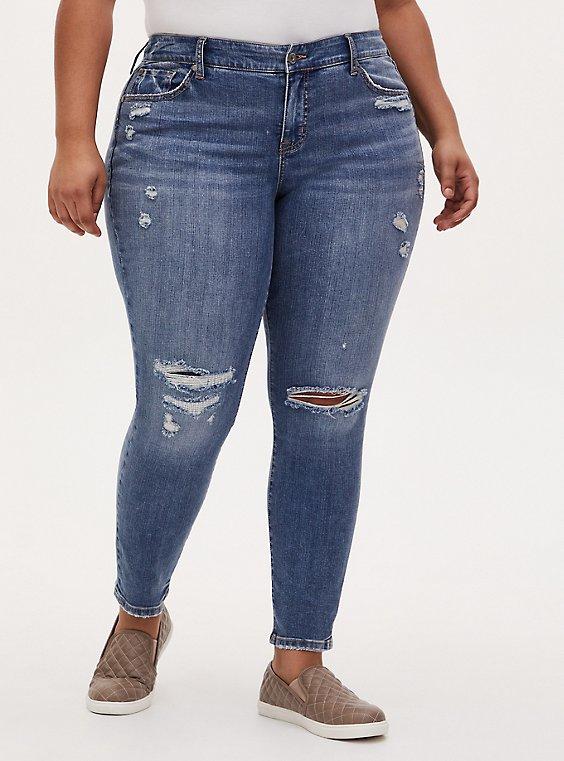 Mid Rise Skinny Jean - Vintage Stretch Medium Wash, TRUTH OR DARE, hi-res