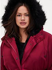 Red Wine Twill 3-in-1 Parka, BEET RED, alternate