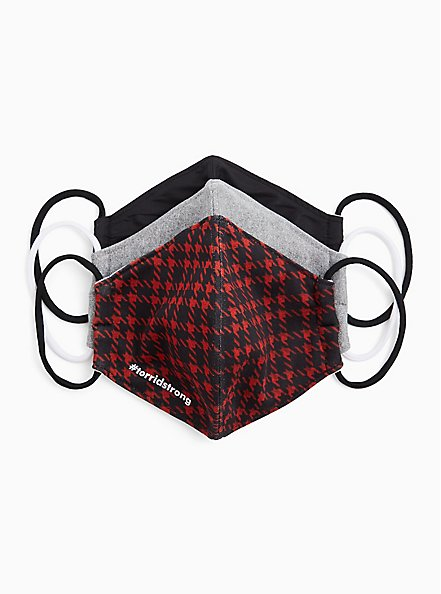 #TorridStrong Non-Medical Reusable Masks - Pack of 3, , hi-res
