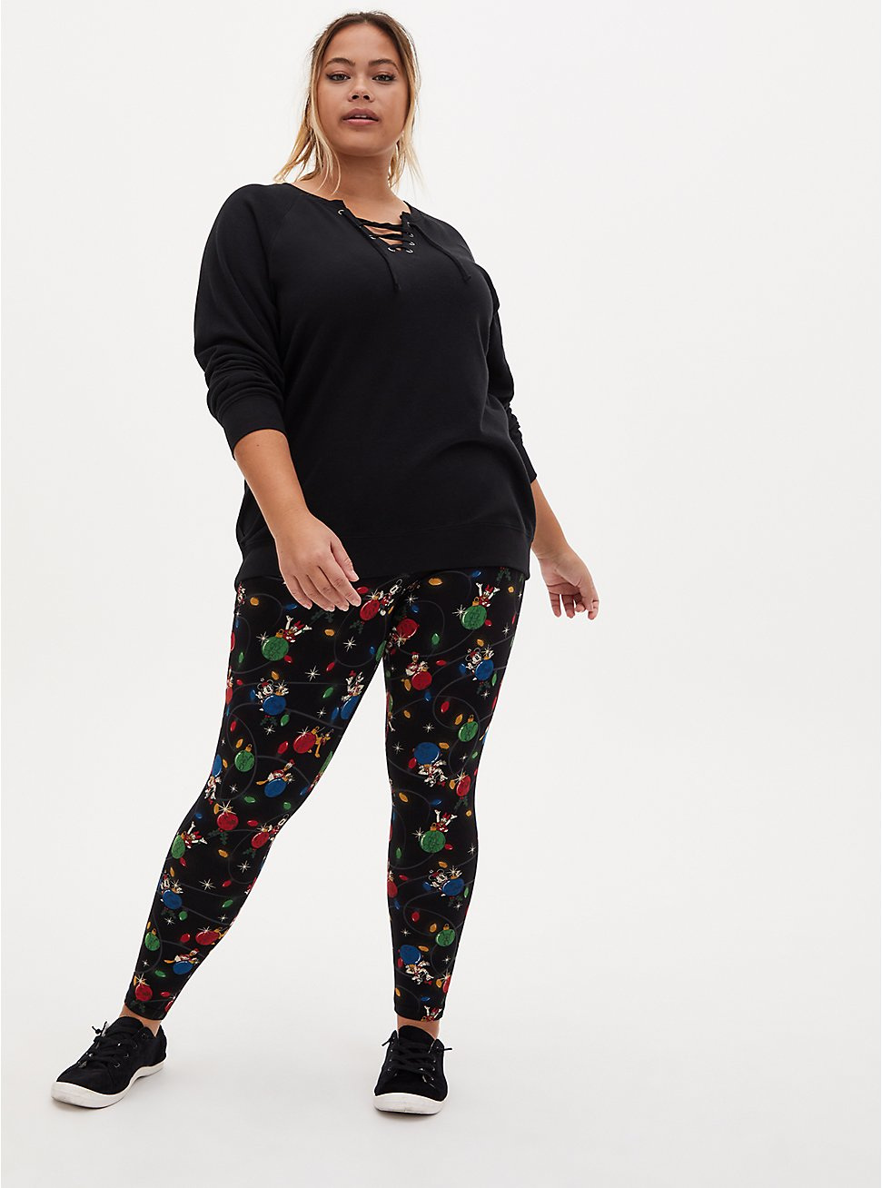 Disney Mickey & Friends Holiday Toss Legging, DEEP BLACK, hi-res