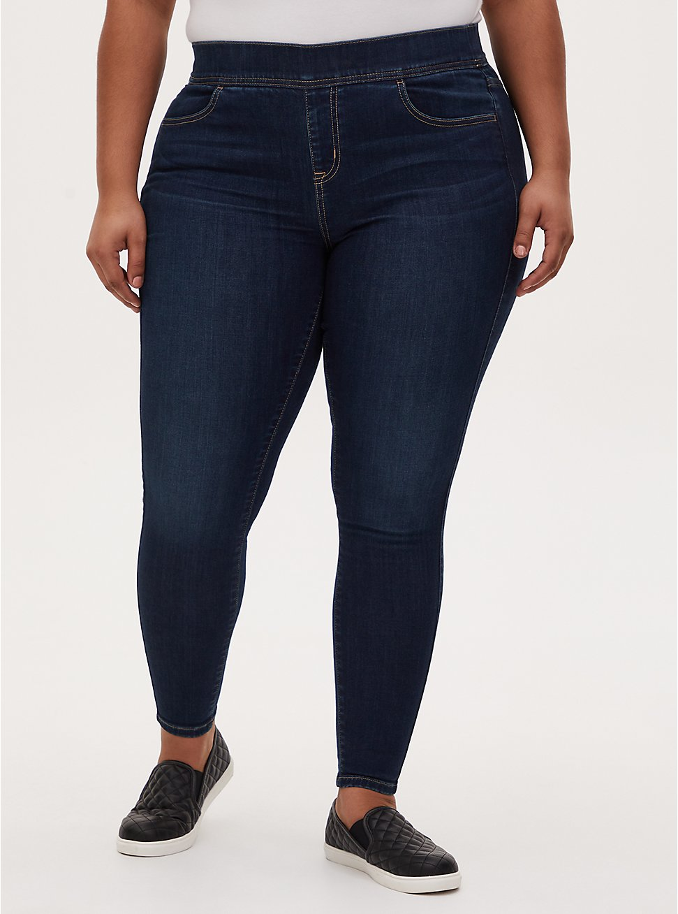 Plus Size Lean Jean - Super Soft Dark Wash , BASIN, hi-res