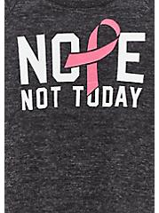 Breast Cancer Awareness - Nope Not Today Super Soft Plush Black Sweatshirt, DEEP BLACK, alternate