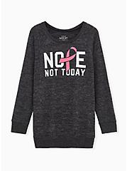 Breast Cancer Awareness - Nope Not Today Super Soft Plush Black Sweatshirt, DEEP BLACK, hi-res