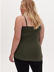 Olive Green Scoop Neck Tunic Foxy Cami, DEEP DEPTHS, alternate
