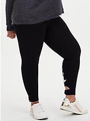 Disney The Aristocats Marie Bow Back Crop Legging, DEEP BLACK, alternate