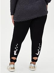 Disney The Aristocats Marie Bow Back Crop Legging, DEEP BLACK, hi-res