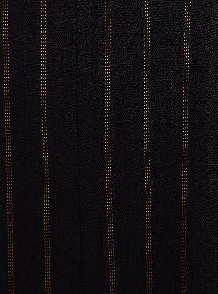 Black Stripe Twill Cutaway Blazer, DEEP BLACK, alternate