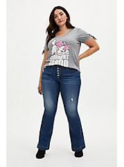 Disney The Aristocats Gray Heather Marie Current Mood V-Neck Graphic Top, GRAY HTR, alternate