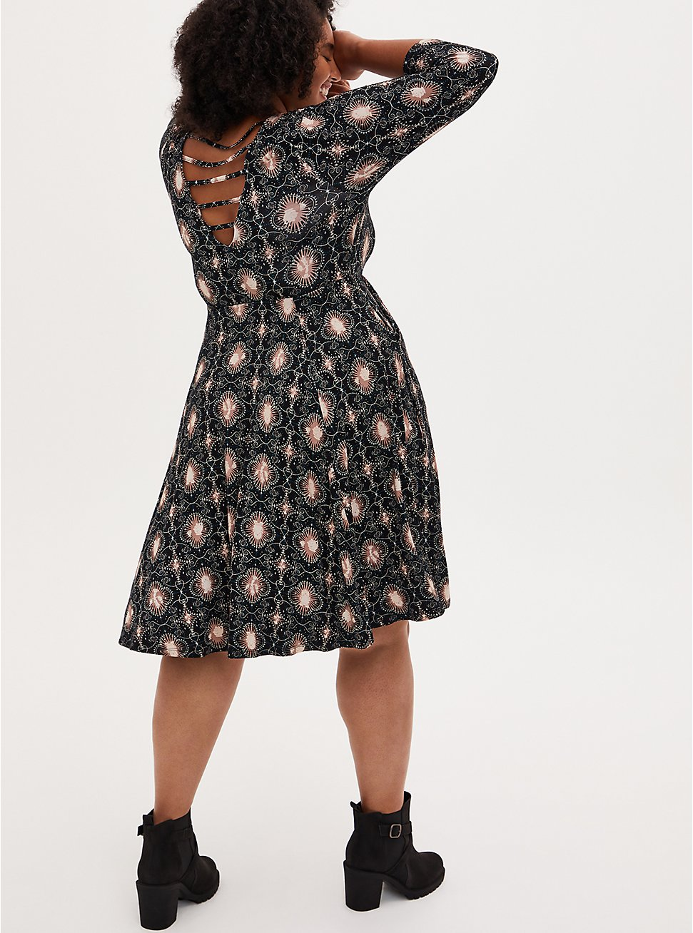 Disney Beauty & The Beast Skater Dress, MULTI, hi-res