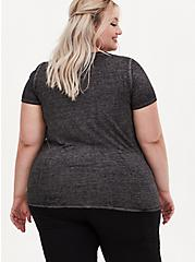 Disney Coco Mama Knows Best Charcoal Grey Tie Front Top, CHAR HTR, alternate