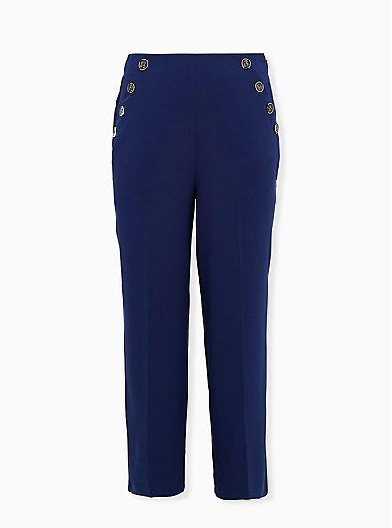 Plus Size High Waist Sailor Pant - Navy, NAVY, hi-res