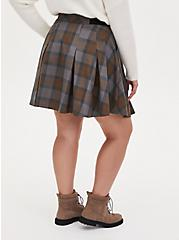 Outlander Tartan Plaid Twill Woven Mini Skater Skirt, MULTI, alternate