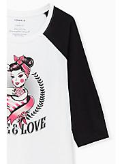 Breast Cancer Awareness - Live & Love Classic Fit Raglan Tee White, BRIGHT WHITE, alternate