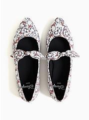 Disney The Aristocat Marie Pointed Toe Mary Jane Flat (WW), WHITE, alternate