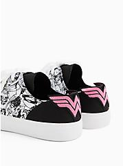 Breast Cancer Awareness - Wonder Woman Canvas Lace-Up Sneaker, WHITE, alternate