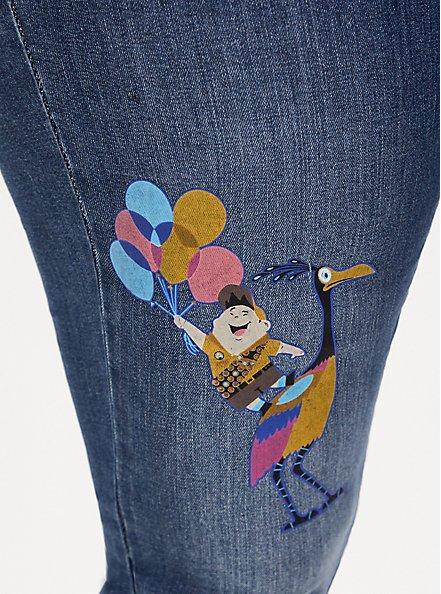 Disney Pixar Up Russel & Kevin Sky High Skinny Jean - Premium Stretch Dark Wash , COOL BREEZE, alternate