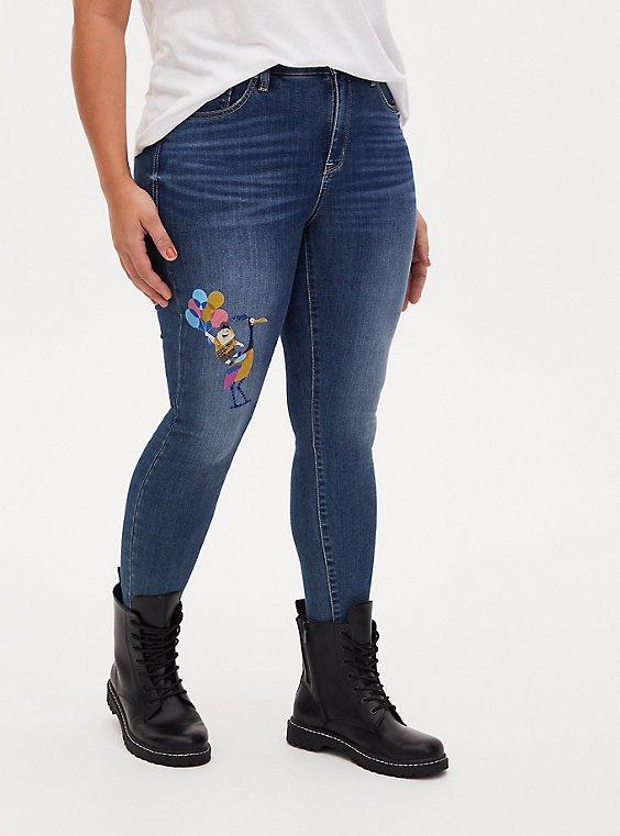 Disney Pixar Up Russel & Kevin Sky High Skinny Jean - Premium Stretch Dark Wash , , hi-res