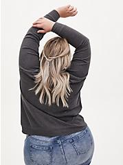 Plus Size The Breakfast Club Charcoal Grey Terry Sweatshirt, CHAR HTR, alternate