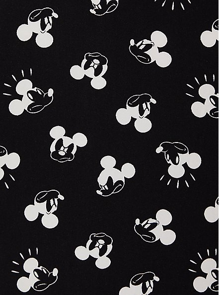 Disney Mickey Mouse Black Twill Bomber Jacket, BLACK, alternate