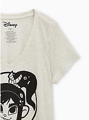 Disney Wreck-It Ralph Vanellope Oatmeal V-Neck Top, OATMEAL, alternate